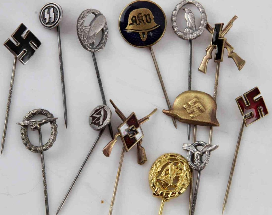 WWII GERMAN THIRD REICH STICK PIN LOT OF 13 - 2