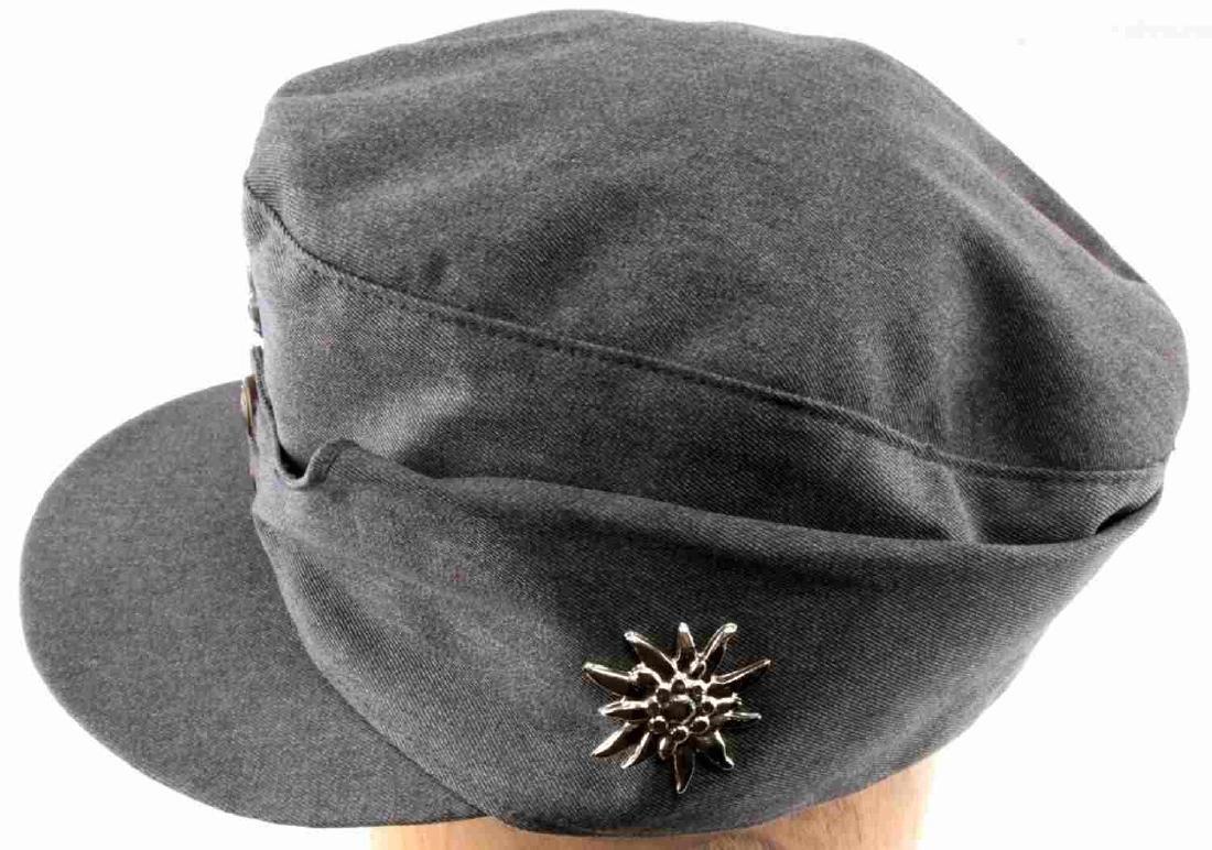 WWII GERMAN THIRD REICH SS MOUNTAIN TROOP M43 CAP - 2
