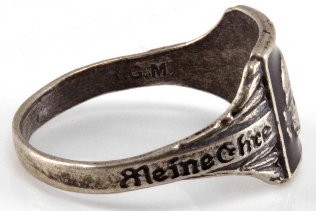 WWII GERMAN THIRD REICH WAFFEN SS TOTENKOPF RING - 4