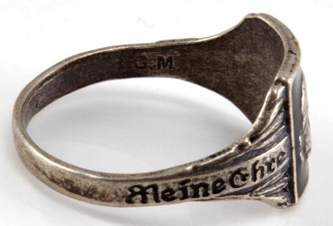 WWII GERMAN THIRD REICH WAFFEN SS TOTENKOPF RING - 5