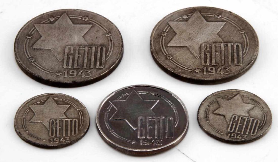 WWII GERMAN THIRD REICH JEWISH GHETTO COIN LOT