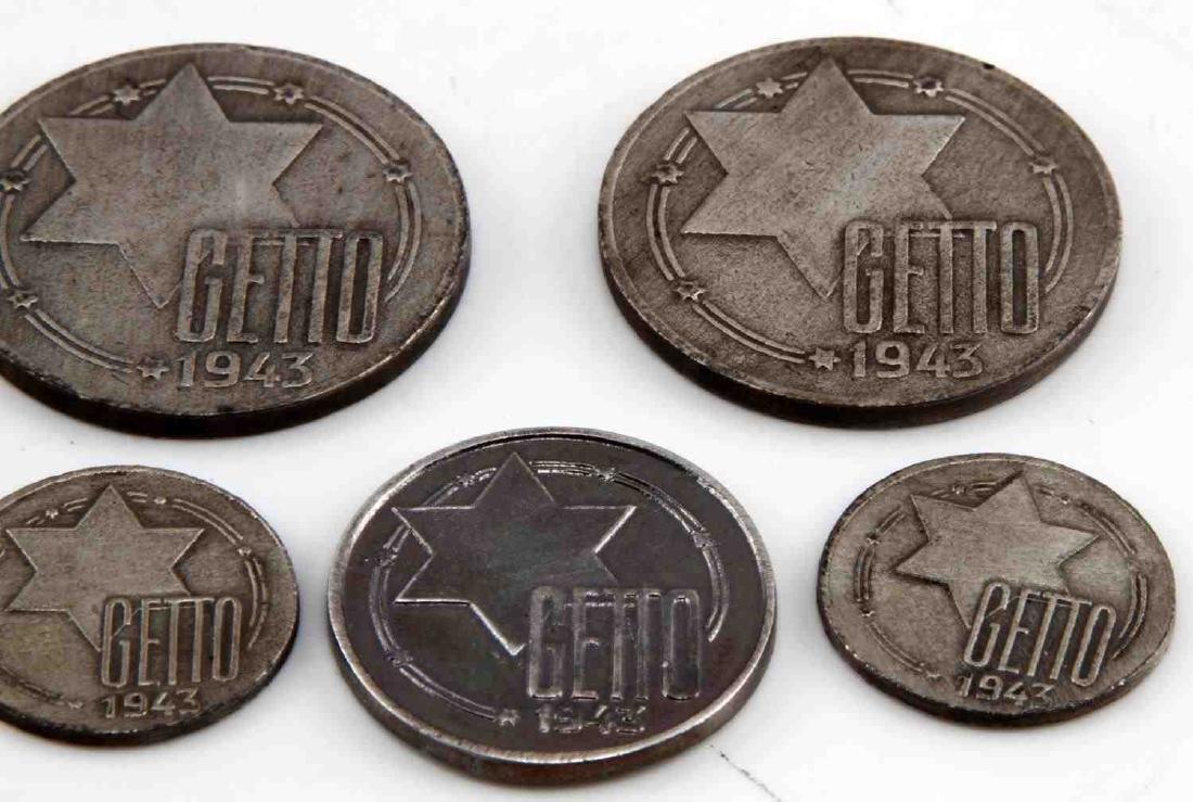 WWII GERMAN THIRD REICH JEWISH GHETTO COIN LOT - 2