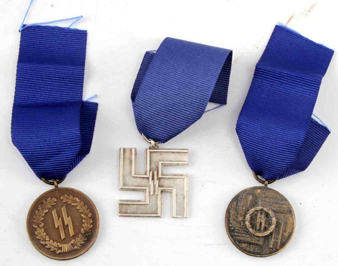 WWII GERMAN THIRD REICH SS LONG SERVICE MEDAL LOT