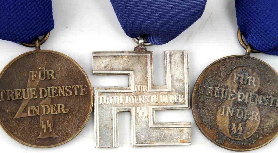 WWII GERMAN THIRD REICH SS LONG SERVICE MEDAL LOT - 3