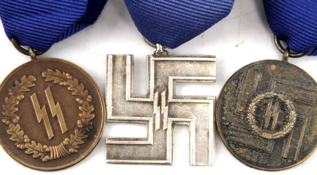 WWII GERMAN THIRD REICH SS LONG SERVICE MEDAL LOT - 4