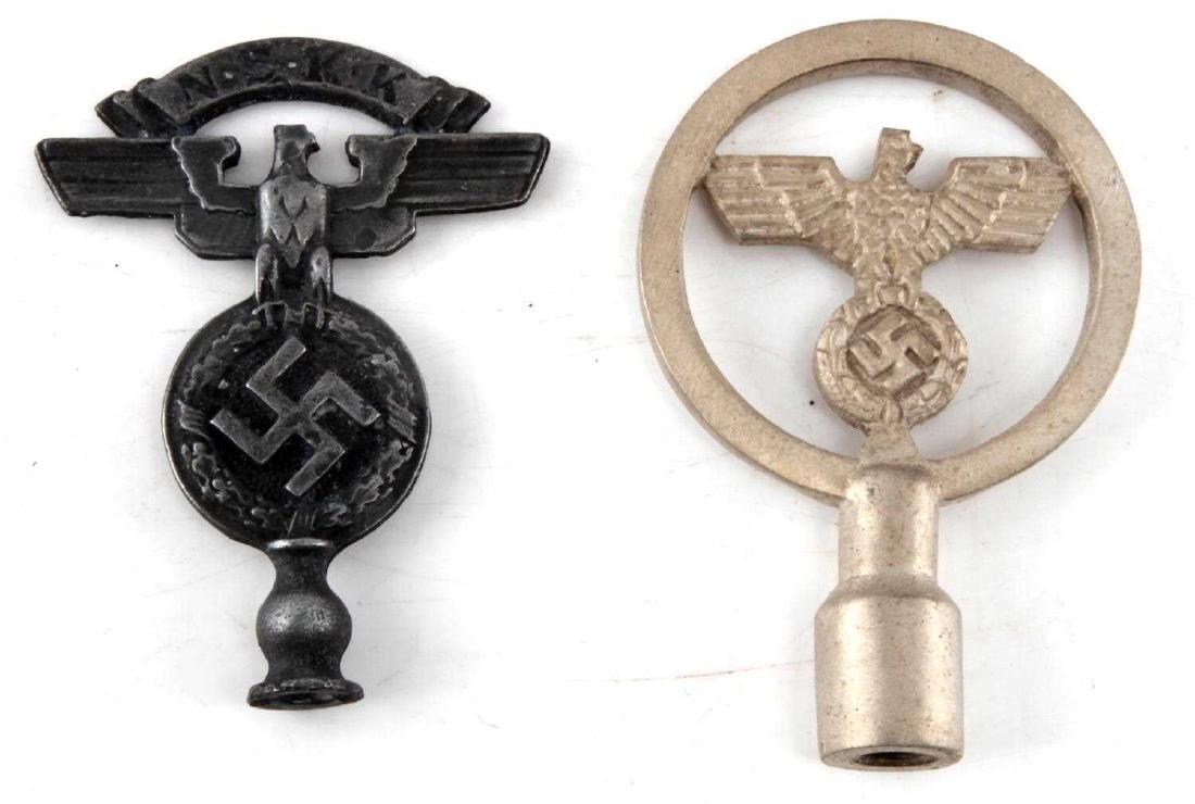 WWII GERMAN THIRD REICH NSKK & NSDAP FLAG TOP LOT