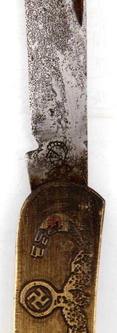 WWII GERMAN THIRD REICH NSDAP POCKET KNIFE - 3