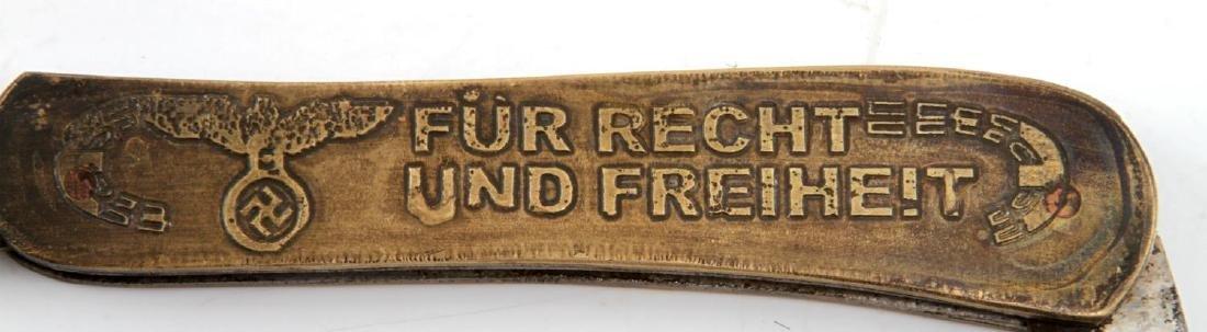 WWII GERMAN THIRD REICH NSDAP POCKET KNIFE - 4