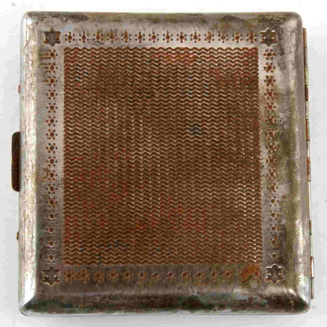 WWII GERMAN LUFTWAFFE IRON CROSS CIGARETTE CASE - 2