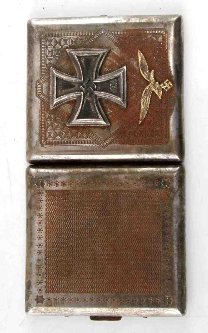 WWII GERMAN LUFTWAFFE IRON CROSS CIGARETTE CASE - 4