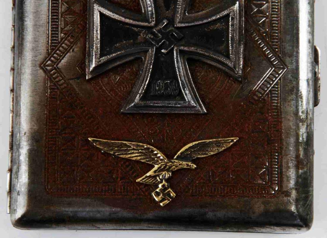 WWII GERMAN LUFTWAFFE IRON CROSS CIGARETTE CASE - 5