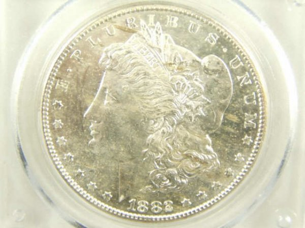 1882-S MORGAN SILVER DOLLAR MS64 PCGS PROOFLIKE