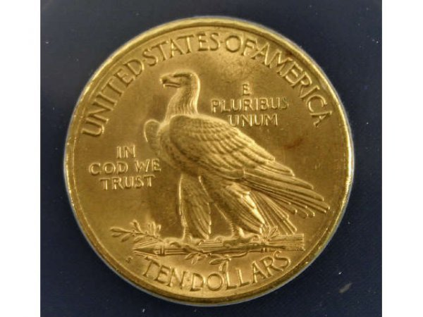 1915-S GOLD $10 EAGLE INDIAN HEAD ANACS MS-62