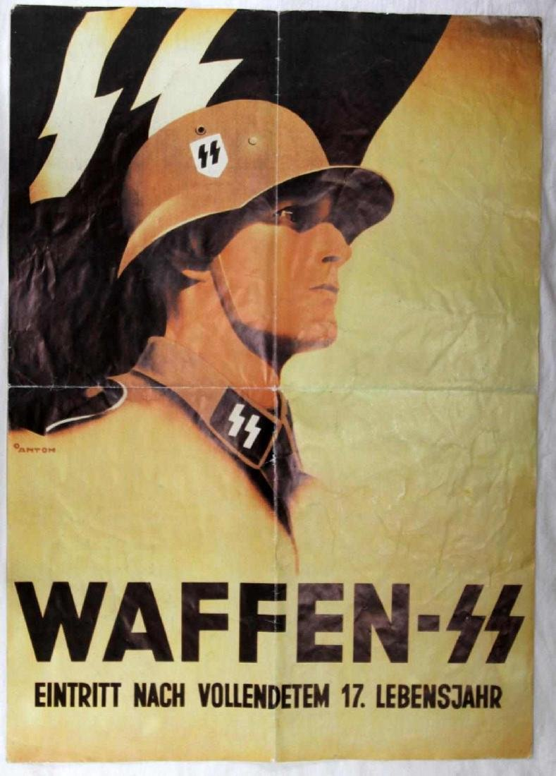 WWII GERMAN WAFFEN SS RECRUITMENT POSTER