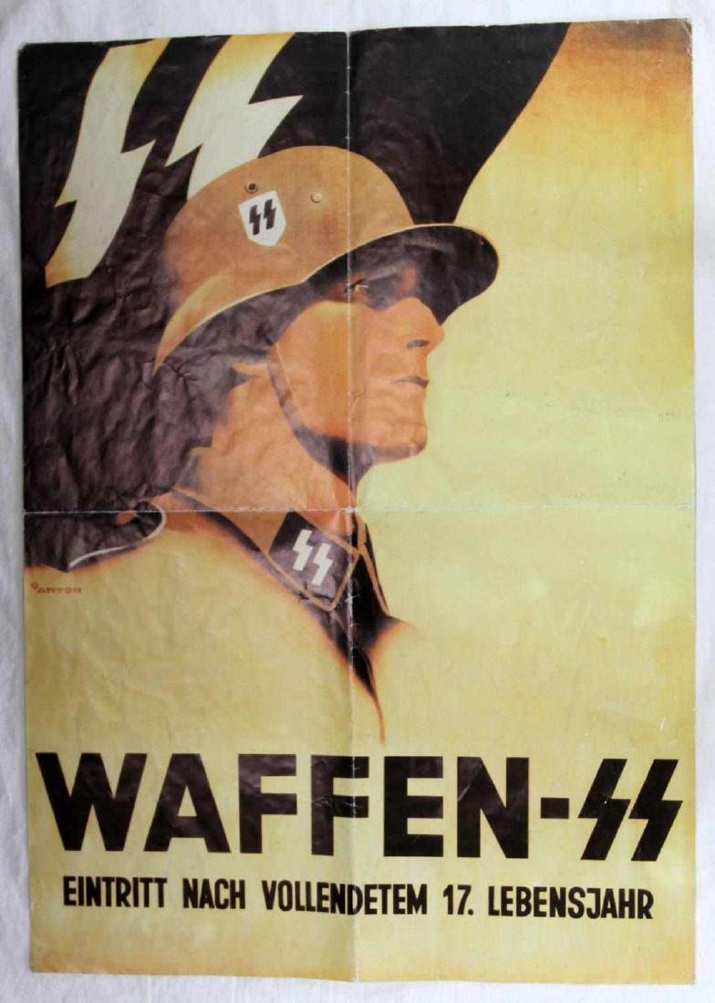 WWII GERMAN WAFFEN SS RECRUITMENT POSTER - 4