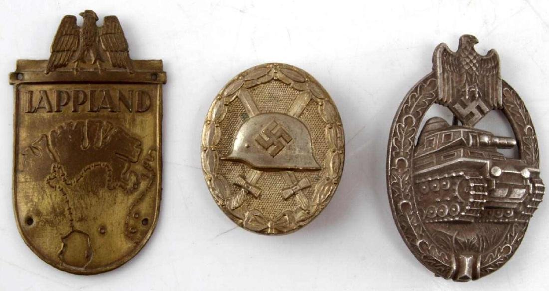 WWII GERMAN THIRD REICH BADGE LOT OF 3