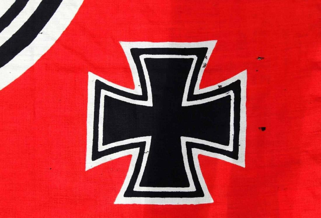WWII GERMAN THIRD REICH KRIEGSMARINE BATTLE FLAG - 3