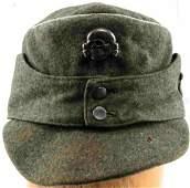 GERMAN WWII WAFFEN SS OFFICERS M43 WOOL FIELD CAP