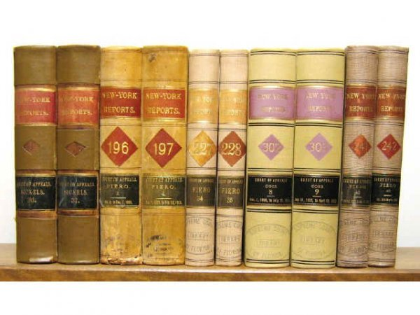 NEW YORK COURT OF APPEALS LAW BOOKS