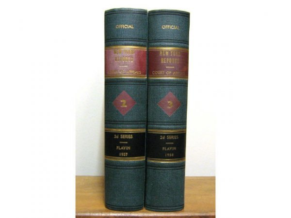 NEW YORK COURT OF APPEALS LAW BOOKS VOL II