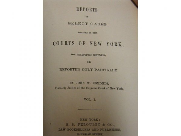 NEW YORK APPEALS COURT REPORTS SILVERNAIL 1891-93