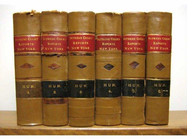 NEW YORK SUPREME COURT CASES REPORTS HUN 1874 1896