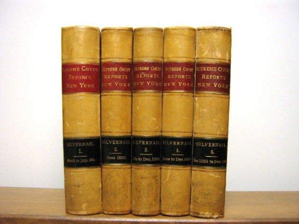 NEW YORK SUPREME COURT REPORTS SILVERNAIL 1889-90