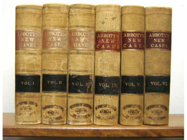 NEW CASES COURTS OF NEW YORK ABBOTT 1877 1896
