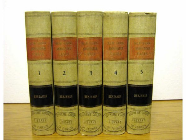 NEW YORK COURTS ANNOTATED DECISIONS BENJAMIN 1895