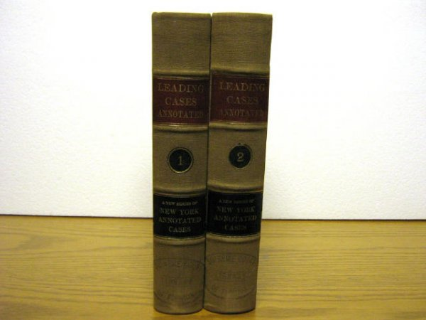NEW YORK LEADING CASES ANNOTATED ROGERS 1914 1915