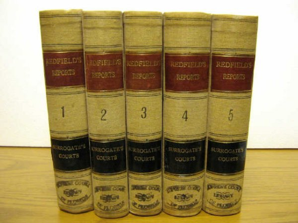 NEW YORK SURROGATES COURTS CASES REDFIELD 1846-82