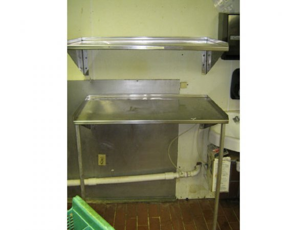 LOT 2 STAINLESS STEEL COMMERCIAL SHELVES KITCHEN
