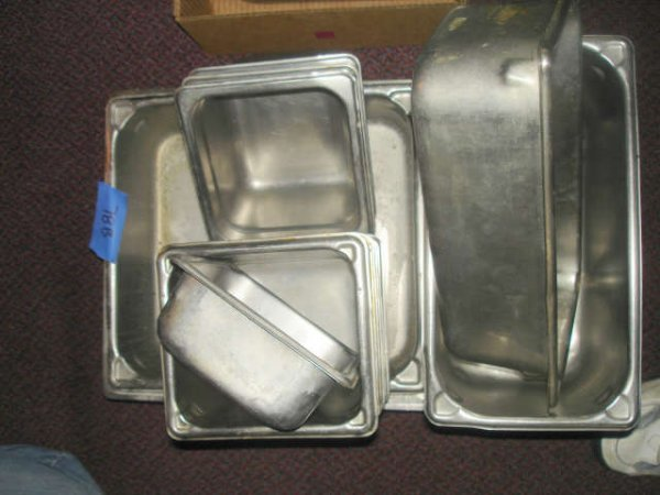 LARGE LOT 24 STAINLESS COMMERCIAL STEAM TABLE PAN