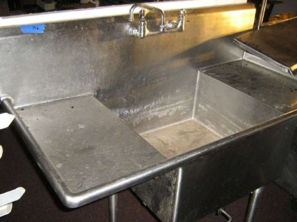 SS SINGLE COMPARTMENT COMMERCIAL RESTAURANT SINK