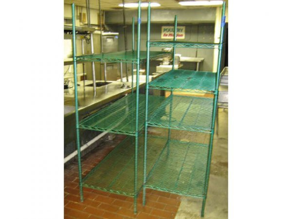 LOT 2 COMMERCIAL COATED DRY STORAGE GOODS RACKS