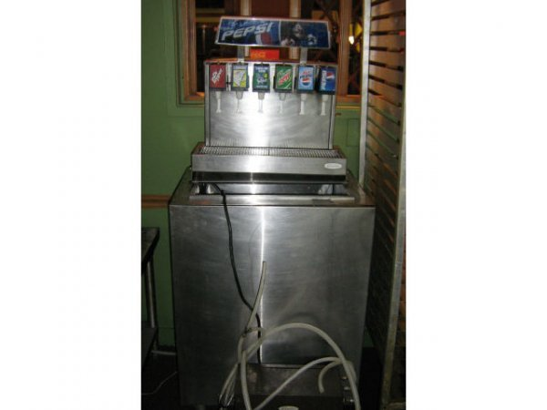 SODA FOUNTAIN MACHINE PEPSI COMMERCIAL W/ ICE CHEST