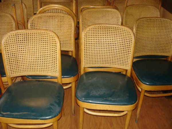 WOOD CANE BACK CHAIR LOT OF 48 CATERING RESTAURANT