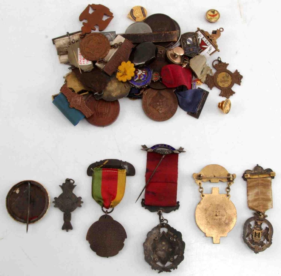 COLLECTION OF ANTIQUE MASONIC & FRATERNAL MEDALS - 2