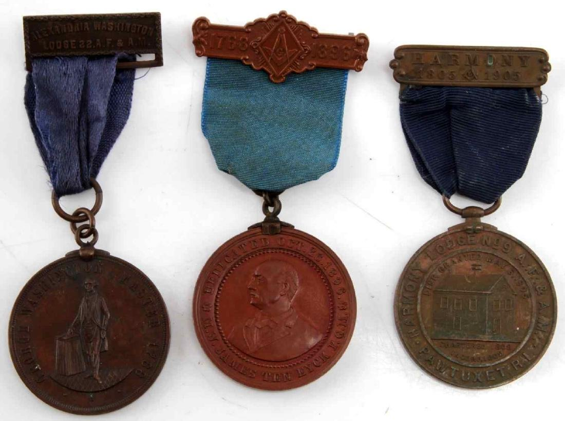 COLLECTION OF ANTIQUE MASONIC & FRATERNAL MEDALS - 3