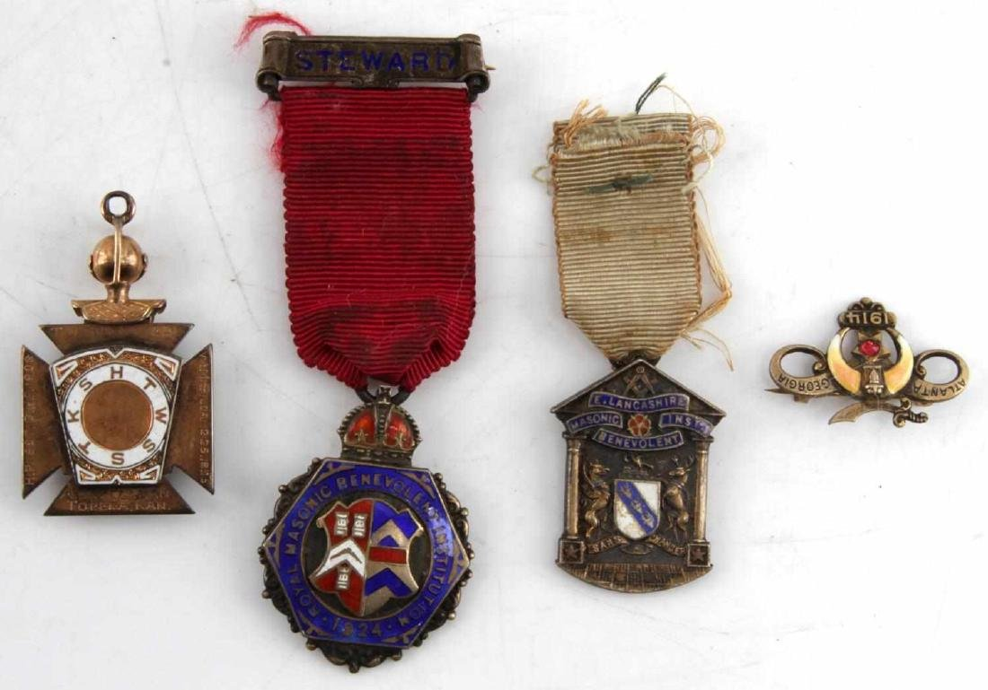 COLLECTION OF ANTIQUE MASONIC & FRATERNAL MEDALS - 6