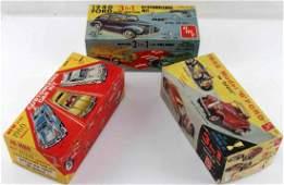 VINTAGE AMT & JO HAN MODEL CAR TOY LOT OF 3