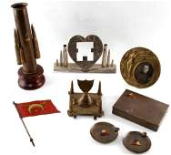 WWI WWII MILITARY TRENCH ART LOT SHELL INK WELL