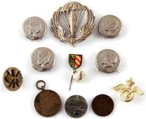 LOT OF 11 ASSORTED MILITARY BADGES TINNIES & PINS