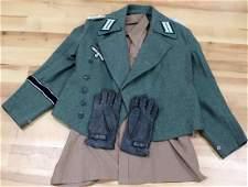 WWII GERMAN REENACTORS HEER OFFICER UNIFORM
