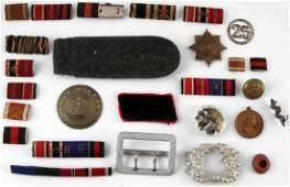 WWII GERMAN THIRD REICH RIBBON BAR BUCKLE MISC LOT