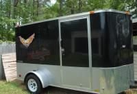 6X12 COVERED CARGO UTILITY TRAILER RAMP