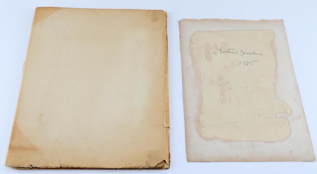 BOOK OF DEGAS PRINTS AND COLORED ZOMPINI PRINT - 2