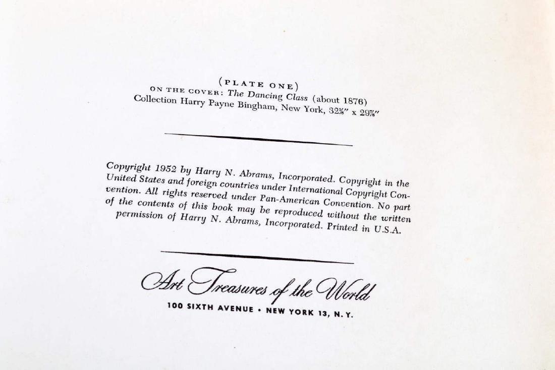 BOOK OF DEGAS PRINTS AND COLORED ZOMPINI PRINT - 5