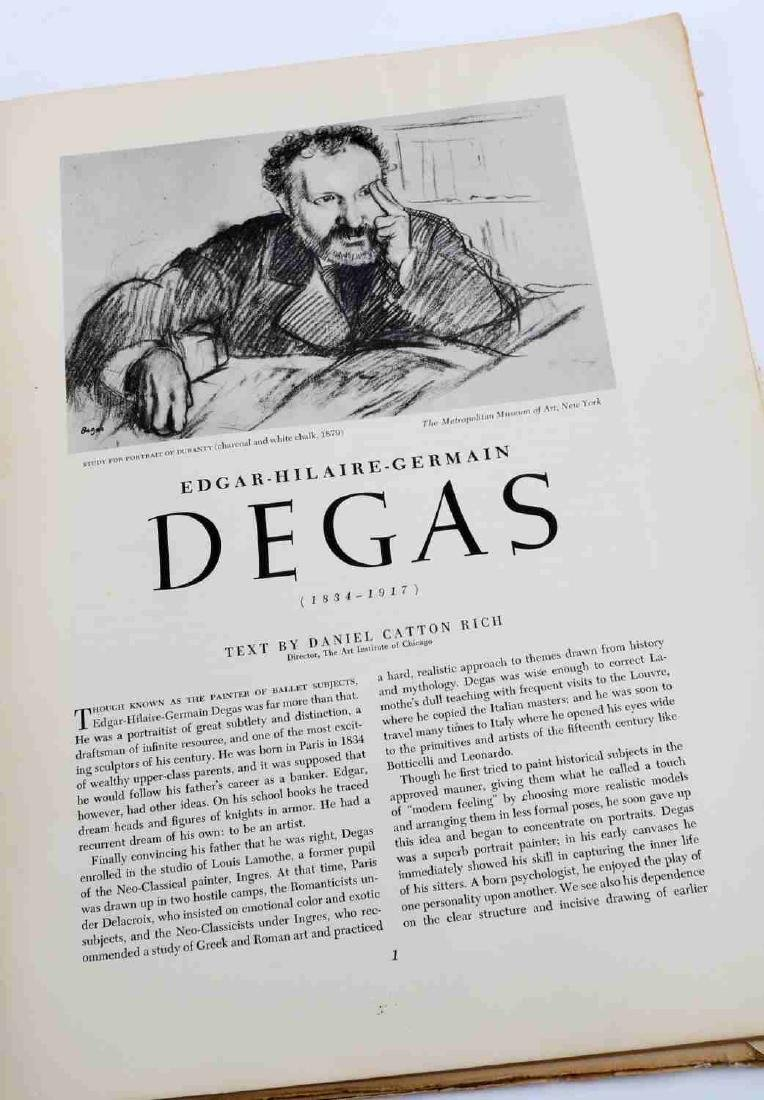 BOOK OF DEGAS PRINTS AND COLORED ZOMPINI PRINT - 6