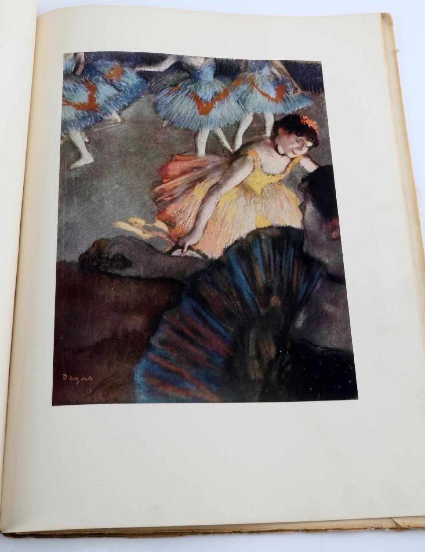 BOOK OF DEGAS PRINTS AND COLORED ZOMPINI PRINT - 8